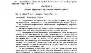 Modificación del TRLCSP  Real Decreto Legislativo 3/2011, de 14 de noviembre por la Ley 2/2015, de 30 de marzo, de desindexación de la economía española. (BOE 31/03/15)