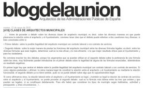 CLASES DE ARQUITECTOS MUNICIPALES