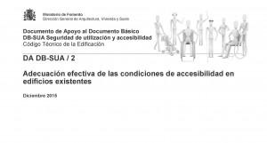 Nuevo documento de apoyo para la adecuación de los edificios existentes a las condiciones de accesibilidad
