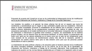 ANTEPROYECTO DE MODIFICACIÓN DE LA LEY 5/2014, DE ORDENACIÓN DEL TERRITORIO, URBANISMO Y PAISAJE DE LA COMUNIDAD